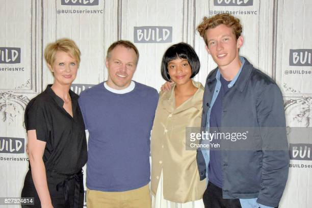 Cynthia Nixon Mark Webb Kiersey Clemons and Callum Turner attend Build series to discuss The Only Living Boy In New York at Build Studio on August 7...