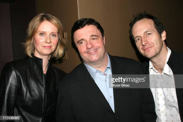 Cynthia Nixon Nathan Lane and Denis O'Hare during New York Casting Society of America 21st Annual Artio's Awards at American Airlines Theater...