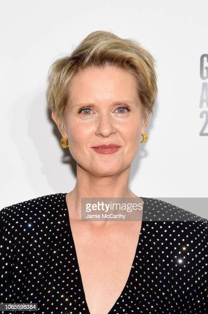 Cynthia Nixon poses backstage durinig IFP's 28th Annual Gotham Independent Film Awards at Cipriani Wall Street on November 26 2018 in New York City