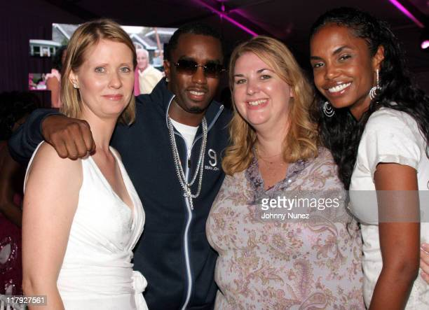 Cynthia Nixon Sean 'P Diddy' Combs Ellen Haddigan and Kim Porter