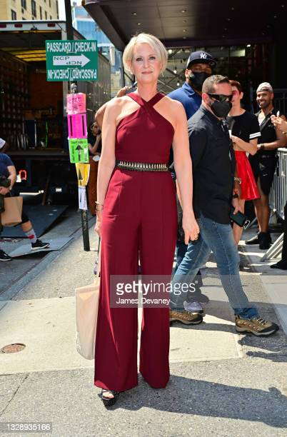 """Cynthia Nixon seen on the set of """"And Just Like That..."""" the follow-up series to """"Sex and the City"""" in the East Village on July 15, 2021 in New York..."""