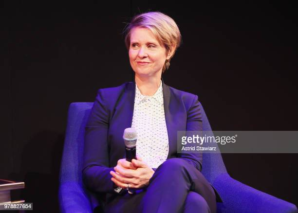 Cynthia Nixon speaks onstage during PRIDE PLACE at Samsung 837 Conversation with Cynthia Nixon on June 19 2018 in New York City