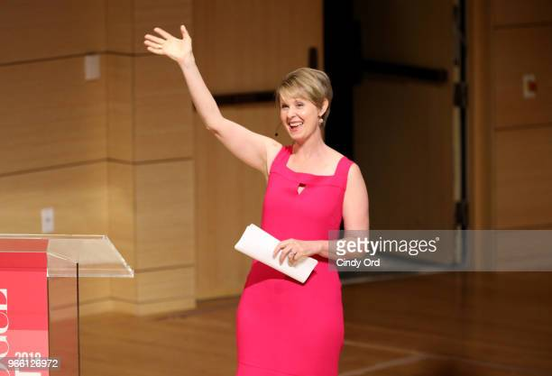 Cynthia Nixon speaks onstage during Teen Vogue Summit 2018 #TurnUp Day 2 at The New School on June 2 2018 in New York City