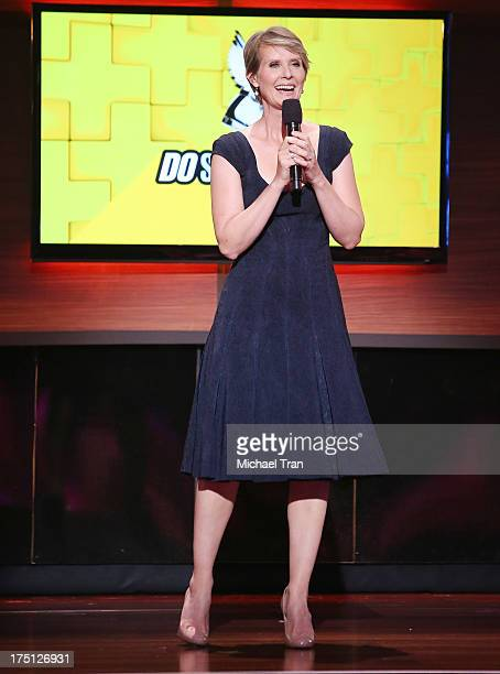 Cynthia Nixon speaks onstage during the 2013 Do Something Awards held at Avalon on July 31, 2013 in Hollywood, California.