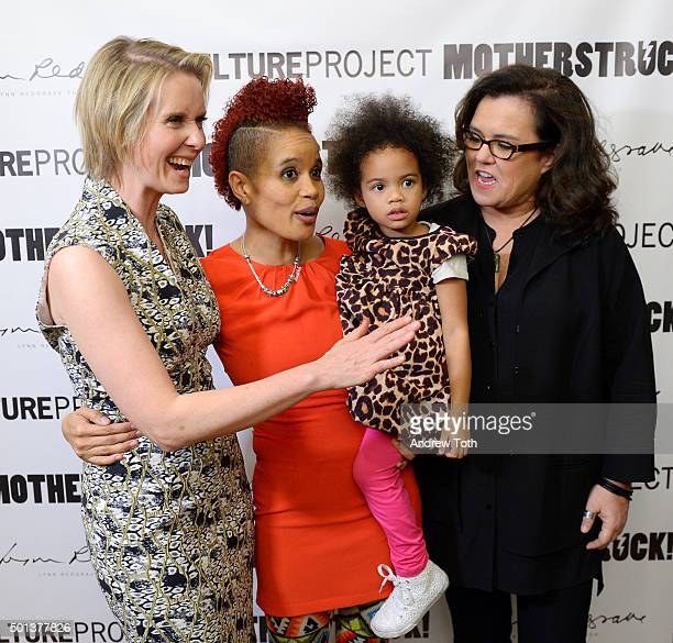 Cynthia Nixon Staceyann Chin Missouri Chin and Rosie O'Donnell attend MotherStruck opening night at the Lynn Redgrave Theatre on December 14 2015 in...