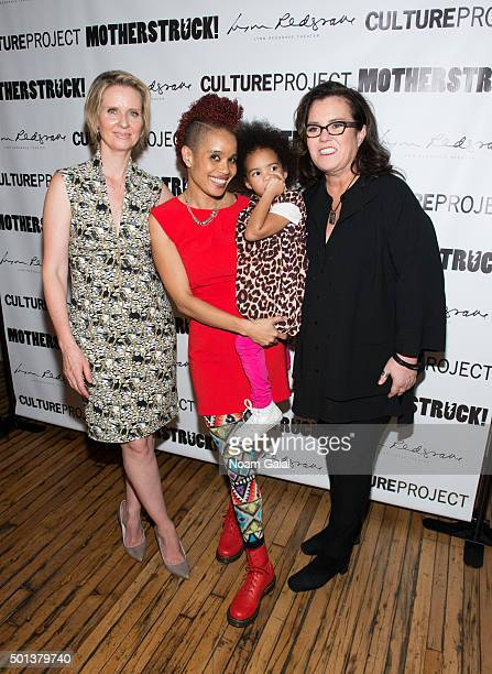 Cynthia Nixon Staceyann Chin Missouri Chin and Rosie O'Donnell attend the MotherStruck opening night at the Lynn Redgrave Theatre on December 14 2015...