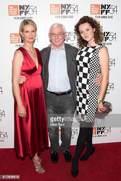 Cynthia Nixon Terence Davies and Catherine Bailey attend the A Quiet Passion Neruda Premieres during the 54th New York Film Festival at Alice Tully...