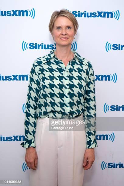 Cynthia Nixon visits SiriusXM Studios on August 9 2018 in New York City