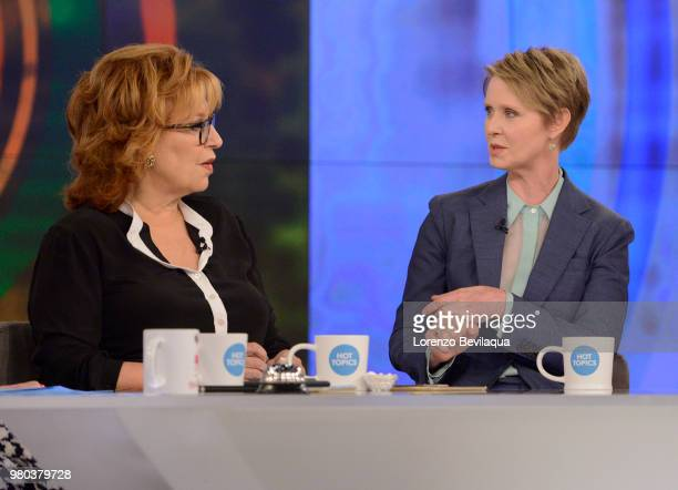 THE VIEW Cynthia Nixon visits THE VIEW 6/21/18 airing on the Walt Disney Television via Getty Images Television Network NIXON