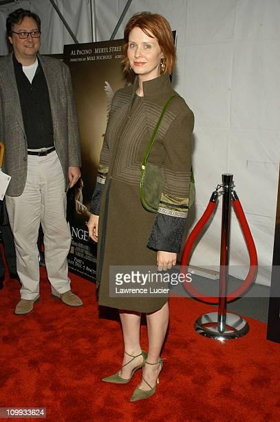 Cynthia Nixon wearing a coat designed by Shanghai Tang