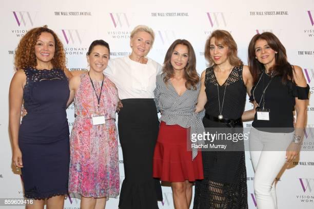 Cynthia Occelli Silvia Hakim President of Visionary Women Shelley Reid Visionary Women Executive Board Member Angella Nazarian and Janet Dardashti...