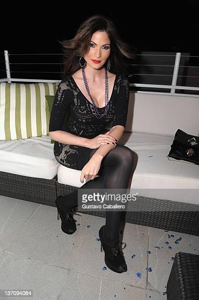 Cynthia Olavarria attends Ana Layevska's birthday party at the Breakwater Hotel on January 14 2012 in Miami Beach Florida