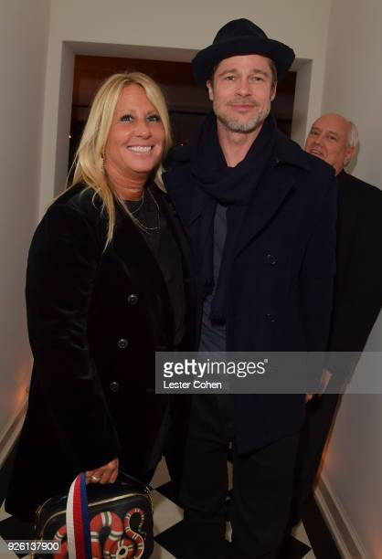 Cynthia PettDante and Brad Pitt attend the 2018 Gersh Oscar party at Chateau Marmont on March 1 2018 in Los Angeles California