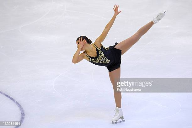 Cynthia Phaneuf of Canada performs in the women's singles during day one of the ISU Grand Prix of Figure Skating NHK Trophy at Makomanai Sekisui Heim...