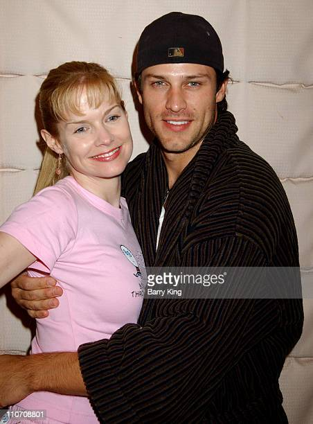 Cynthia Preston and Greg Vaughan during General Hospital Fan Luncheon 2004 at Sportsmans Lodge in Sherman Oaks California United States
