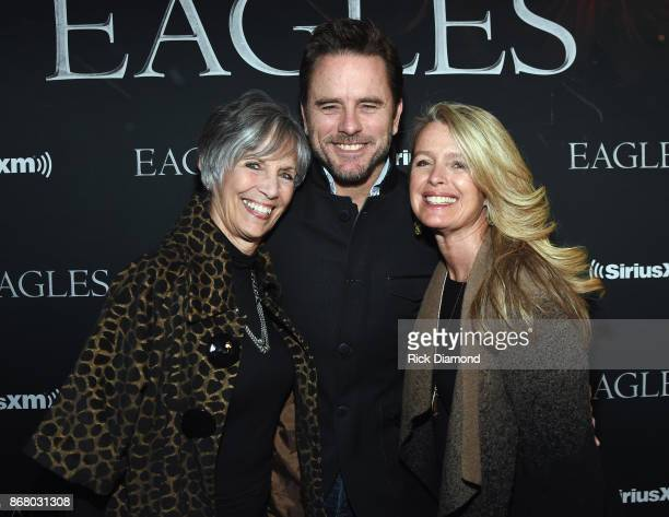 Cynthia Puskar Charles Esten and Patty Hanson attend SiriusXM presents the Eagles in their first ever concert at the Grand Ole Opry House on October...