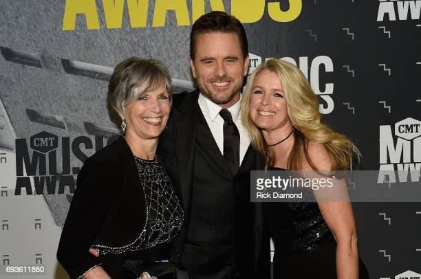 Cynthia Puskar Charles Esten and Patty Hanson attend the 2017 CMT Music awards at the Music City Center on June 7 2017 in Nashville Tennessee