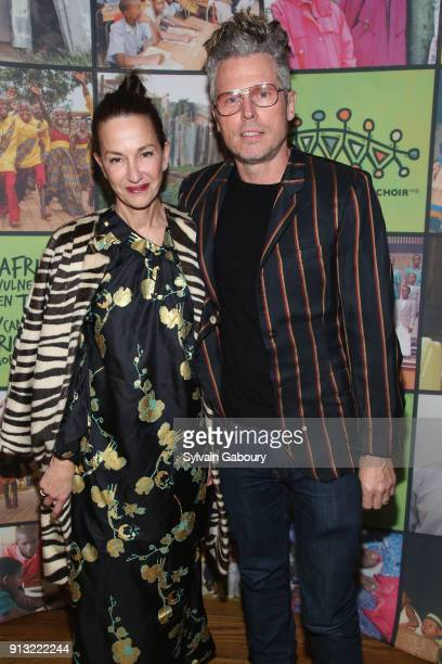 Cynthia Rowley and Bill Powers attend The African Children's Choir ChangeMakers Gala at City Winery on February 1 2018 in New York City