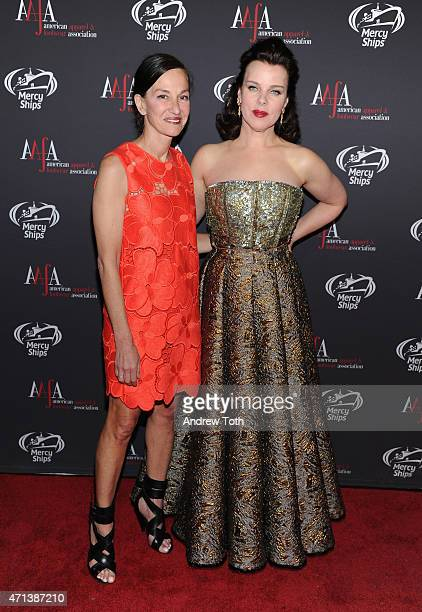 Cynthia Rowley and Debi Mazar attend the 2015 AAFA American Image Awards on April 27 2015 in New York City