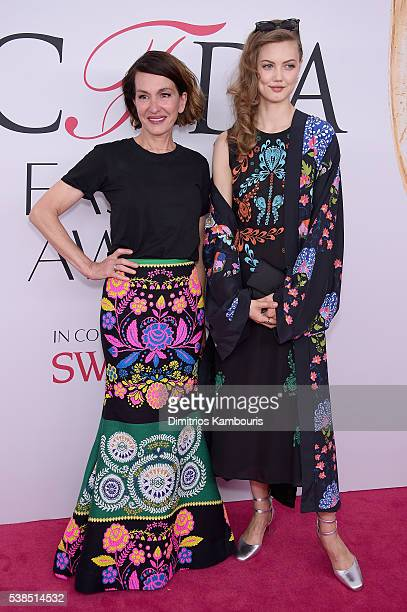 Cynthia Rowley and Lindsay Wixson attend the 2016 CFDA Fashion Awards at the Hammerstein Ballroom on June 6 2016 in New York City