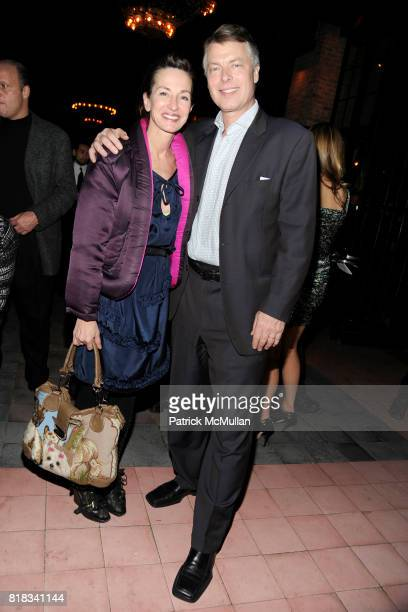 Cynthia Rowley and Richard Johnson attend HBO THE CINEMA SOCIETY host the after party for 'HOW TO MAKE IT IN AMERICA' at Bowery Hotel on February 9...