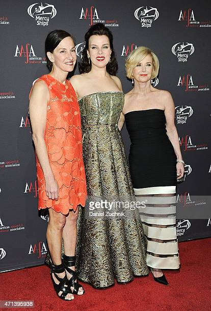 Cynthia Rowley Debi Mazar and Juanita D Duggan attend the AAFA American Image Awards at 583 Park Avenue on April 27 2015 in New York City