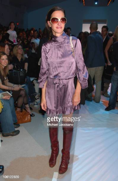 Cynthia Rowley during Olympus Fashion Week Spring 2007 Project Runway Season 3 Finale Front Row at Bryant Park in New York City New York United States