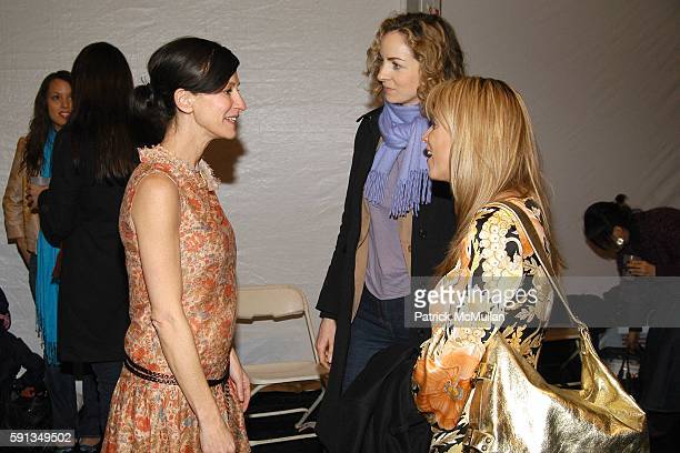 Cynthia Rowley Kerry Diamond and Alison Brod attend Cynthia Rowley Camp Rowley Fall 2005 Collection Fashion Show at The Atelier Tent on February 9...