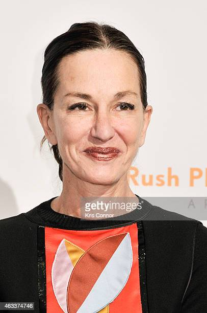 Cynthia Rowley poses on the red carpet during the Annual Rush HeARTS Education Valentine's Luncheon at The Plaza Hotel on February 13 2015 in New...