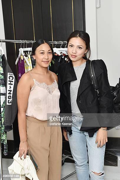 Cynthia Sanchez and Diane Garcia attend Miranda Kerr hosts Reebok Women luncheon celebrating inspirational women in fashion and fitness at The London...