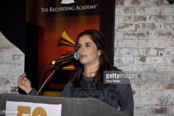 Cynthia Simien speaking at The Memphis Chapter of The Recording Academy's official Grammy reception announcing the Zydeco and Cajun nominees at the...