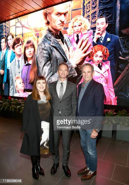 Cynthia Summers Neil Patrick Harris and Bo Welch attend Netflix's A Series of Unfortunate Events Red Carpet and Reception at Netflix Home Theater on...