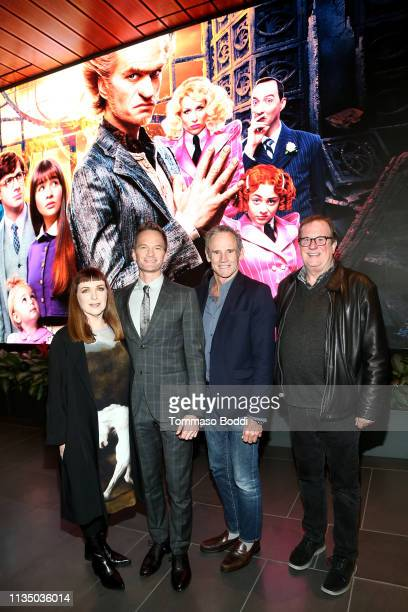 Cynthia Summers Neil Patrick Harris Bo Welch and Moderator attend Netflix's A Series of Unfortunate Events Red Carpet and Reception at Netflix Home...