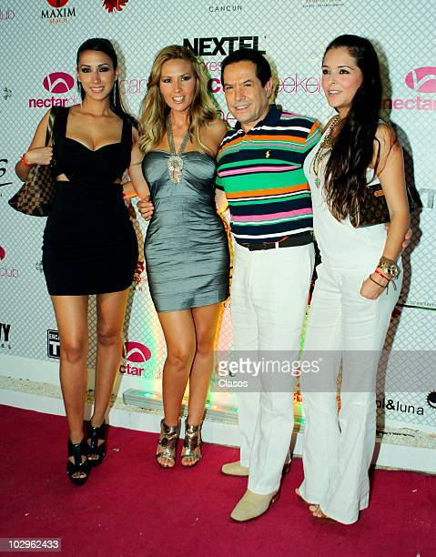 Cynthia Urias Jessica Diaz de Leon Juan Jose Origel and Grettell Valdez arrive at the Cancun Nectar Weekend 6th Anniversary party at the Nectar Club...