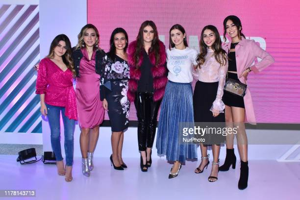 Cynthia Villarreal, Michelle Renaud, Yael Sandler, Luisa Fernanda Islas poses for photos during the event 'Vive con Glamour' to promote prevention of...