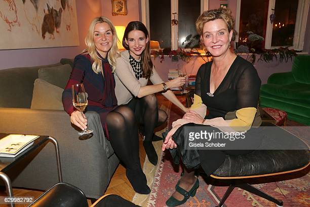 Cynthia Werth Sophie Wepper Meister and Margarita Broich during the Mon Muellerschoen Vestiaire Collective charity auction benefit fo 'Tribute to...
