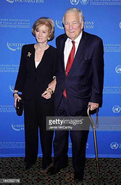 Cynthia Whitehead and John Whiteheadformer chairman of the United Nations attend the 2012 Global Leadership Awards Dinner at Cipriani 42nd Street on...