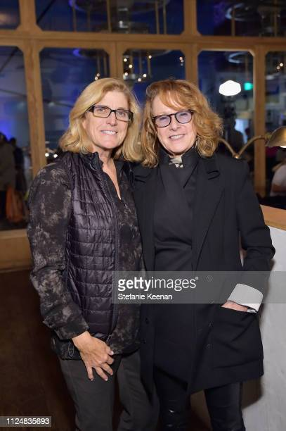 Cynthia Wornham and Ann Philbin attend Hauser Wirth Los Angeles Opening of Annie Leibovitz and Piero Manzoni and Musical Performance by Patti Smith...
