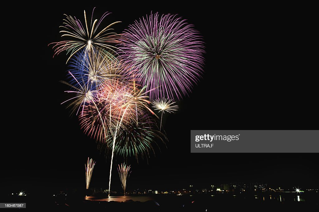 Cyofu city Firework Festival : ストックフォト