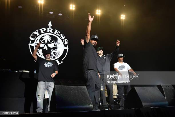 Cypress Hill performs on stage as part of Jack's 12th Show at FivePoint Amphitheatre on October 7 2017 in Irvine California