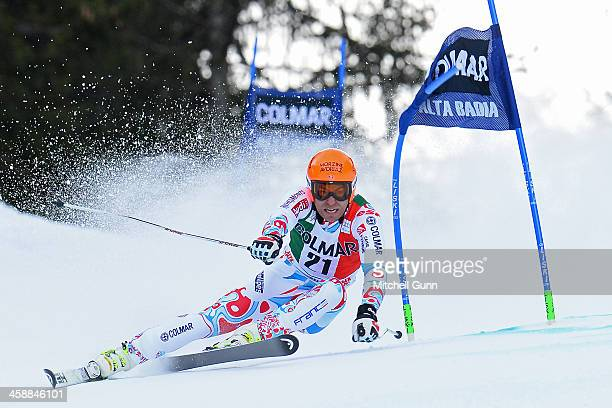 Cyprien Richard of France races down the course whilst competing in the FIS Alpine World Cup giant Slalom race on December 22 2013 in Alta Badia Italy