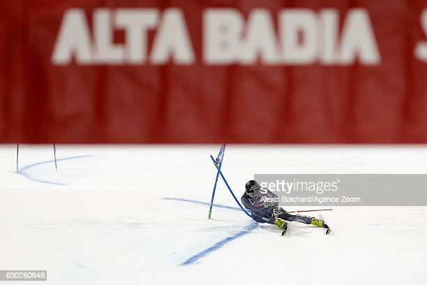 Cyprien Sarrazin of France competes during the Audi FIS Alpine Ski World Cup Men's Parallel Giant Slalom on December 19 2016 in Alta Badia Italy