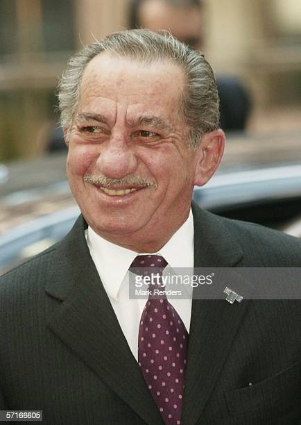 Cypriot President Tassos Papadopoulos arrives at the Justus Lipsitus Building to attend an EU summit on March 23 2006 in Brussels Belgium