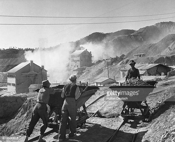 Cyprus Asbestos Mine View of the crushers of Tunnel Asbestos Cement Co mine at Amiandes where mined asbestos is crushed separating fibre from the...