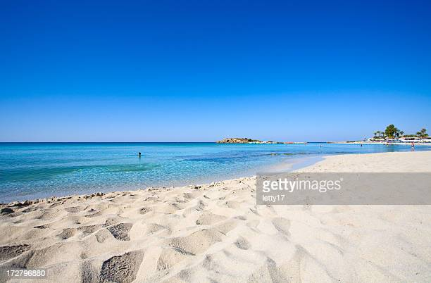 cyprus beach - mediterranean sea stock pictures, royalty-free photos & images