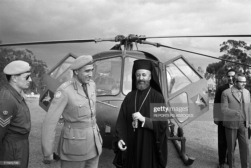 Cyprus Crisis: Makarios Iii In Nicosia, Cyprus On February 21, 1964 : News Photo