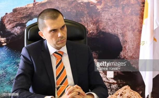 Cyprus' Deputy Tourism Minister Savvas Perdios speaks during an interview with AFP in the capital Nicosia on June 4, 2020. - Cyprus opens back up for...