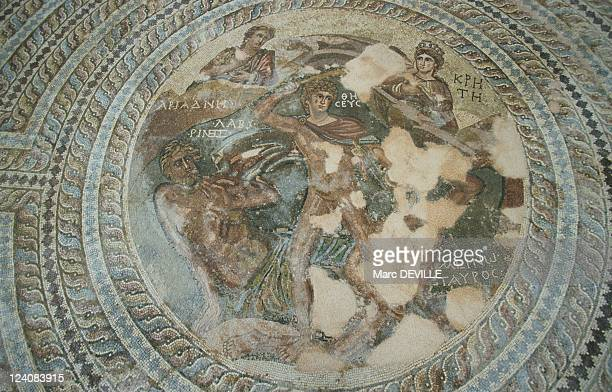 Cyprus In October 1998 Mosaics of Pafos the Minotaur and Ariadne's thread