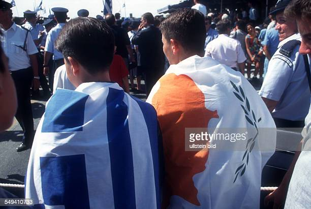 Cyprus, Nicosia: Cypriot-Greek spectators of the Turkish Military Parade on independence day.