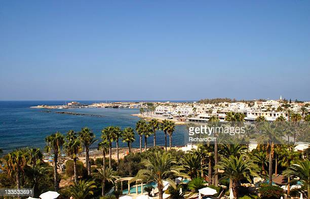 cyprus paphos town and harbour - repubiek cyprus stockfoto's en -beelden